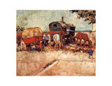 Caravans Encampment of Gypsies Poster by Vincent van Gogh