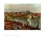 Pont de pierre à Rouen Art par Camille Pissarro