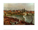 Stone Bridge Rouen Art by Camille Pissarro