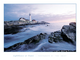 Lighthouse at Dawn Planscher av Tony Sweet