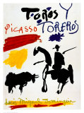 Bull with Bullfighter Poster van Pablo Picasso