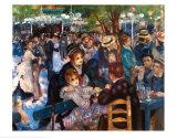 Dancing at the Moulin de la Galette Posters by Pierre-Auguste Renoir