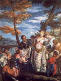 The Finding of Moses, c.1570-75 Posters af Paolo Veronese