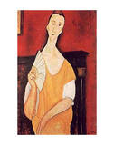 Woman with Fan Print by Amedeo Modigliani