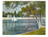 Seine at Grande Jatte Prints by Georges Seurat
