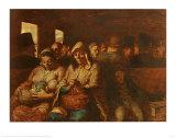 El vagón de tercera clase Láminas por Honore Daumier