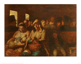 Third Class Carriage Prints by Honore Daumier