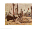 Maria at Honfleur Poster van Georges Seurat