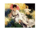 Woman with a Parasol Poster by Pierre-Auguste Renoir