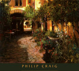 Alsace Courtyard Prints by Philip Craig