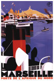 Marseilles, Porte de l&#39;Afrique du Nord Prints by Roger Broders