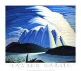 Lake and Mountains Posters av Lawren S. Harris