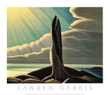 North Shore, Lake Superior Print by Lawren S. Harris