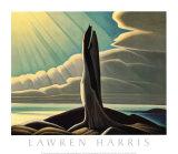 Orilla norte, lago Superior Lámina por Lawren S. Harris