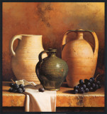 Earthenware with Grapes Posters by Loran Speck