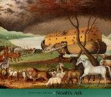 Noahs ark Plakater av Edward Hicks