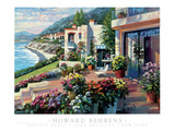 Pacific Patio Print by Howard Behrens
