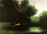 Diving Pig Kunst af Michael Sowa