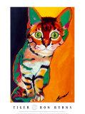 Tiger Kunstdrucke von Ron Burns