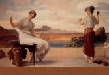 Winding the Skein Posters av Frederick Leighton
