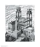 Vandfald Posters af M. C. Escher
