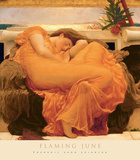 June in Flammen Poster von Frederic Leighton