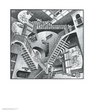 Relativity Poster by M. C. Escher