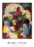 The Flower Vendor Posters van Diego Rivera
