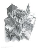 Ascendant et descendant Poster par M. C. Escher