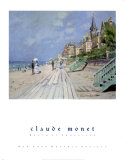 Beach at Trouville Posters by Claude Monet