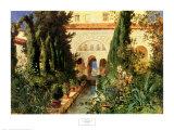 Der Garten des Generalife Bei Granada Posters by Hans Ludwig Fischer