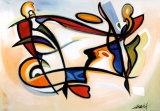 Blikket vendt mod himlen Posters af Alfred Gockel