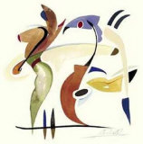 Fishing in the Abstract Prints by Alfred Gockel