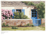Blue Gate, Provence Poster by Michael Duvoisin