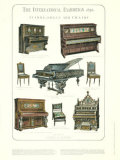 Pianos, Organ, and Chairs Posters