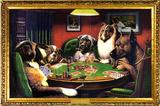 Chiens jouant au poker Affiches