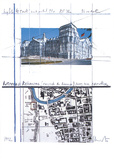 Wrapped Reichstag Project for Berlin 2 Prints by  Christo