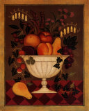 Fruit and Flowers I Art by Diane Pedersen