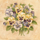 Pansies Poster by Pamela Gladding