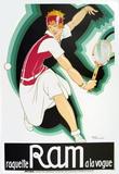Raquette Ram Serigraph by Rene Vincent