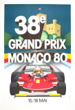 Monaco Grand Prix, 1980 Collectable Print