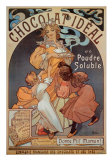 Chocolat Ideal Posters by Alphonse Mucha