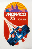 Monaco Grand Prix, 1975 Impresso de peas de colees por Geo Ham