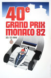Monaco Grand Prix, 1982 Collectable Print by Geo Ham