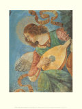 Angel with Lute Posters van  Melozzo da Forlí
