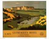 Gleneagles Hotel Prints by  British Rail