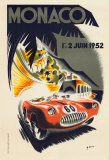 Monaco Grand Prix, 1952 Impresso de peas de colees