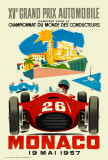Monaco Grand Prix, 1957 Impresso de peas de colees