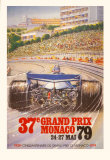Monaco Grand Prix, 1979 Plakater af Alain GIAMPAOLI