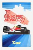 Monaco Grand Prix 1977 Kunst af Roland Hugon